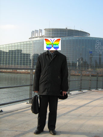Kirill in front of the European Parliament